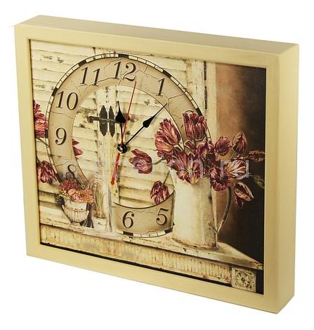 Настенные часы Акита (34х30 см) Тюльпаны-AKI 3034-20 цена и фото