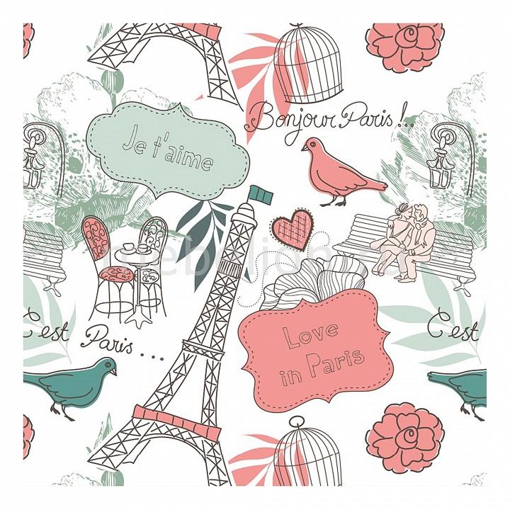 Купить Панно (50х50 см) Париж 112494203, Ekoramka, Россия, разноцветный, дерево, холст