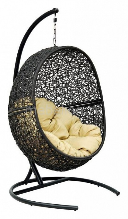 Кресло подвесное Экодизайн Lunar Black white rattan sofa purple cushions garden outdoor patio sofa rattan furniture swing pool table chair rattan sofa set