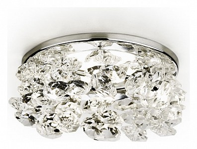 Светильник потолочный Crystal K308 AMBR_K308_CL_CH