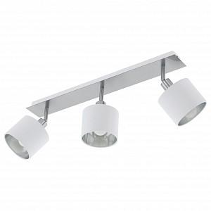 Спот поворотный Valbiano, 3 лампы E14 по 10 Вт., 8.57 м², цвет белый, серебро глянцевый