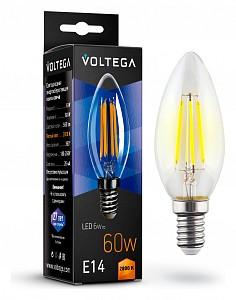 Лампа светодиодная Crystal E14 220В 6Вт 2800K VG10-C1E14warm6W-F