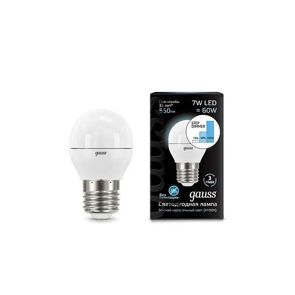 Лампа светодиодная 1051 E27 180-240В 7Вт 4100K 105102207-S фото