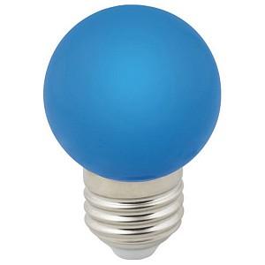 Лампа светодиодная Sky E27 220-240В 1Вт синий LED-G45-1W/BLUE/E27/FR/С