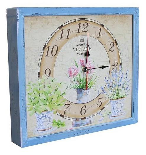Настенные часы Акита (34х30 см) Цветы в горшках 3034-17 цена и фото