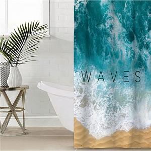 Штора для ванной (145x180 см) Waves