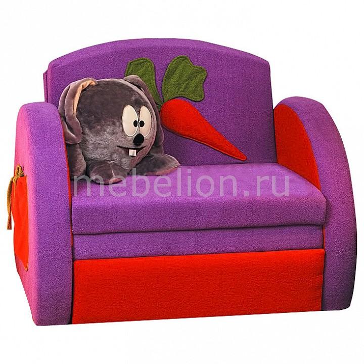 Диван-кровать Мася-8 Кролик 8131127 сиреневый/красный