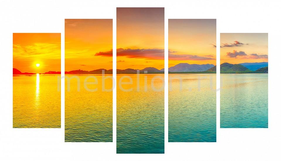 Набор панно Ekoramka Набор из 5 панно (1350х820 см) Закат на море 175924М13582