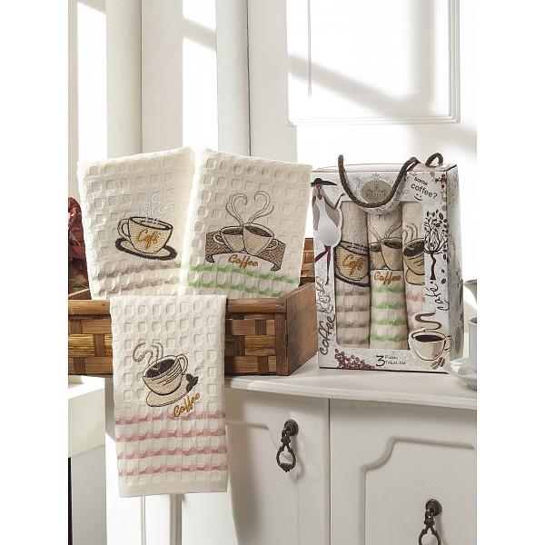Набор из 3 полотенец для кухни Sole Kahve Meteor MTH_8280