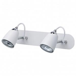 Спот поворотный Астор 5, 2 лампы GU10 по 50 Вт., 4.6 м², цвет белый, хром матовый