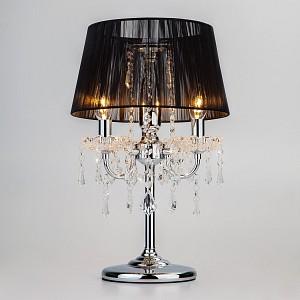 Настольная лампа декоративная Allata 2045/3T хром/черный настольная лампа