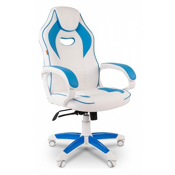 Кресло игровое Chairman Game 16 белый/голубой CHA_7030049