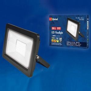 Настенный прожектор ULF-F19 ULF-F19-50W/4000K IP65 175-250В BLACK
