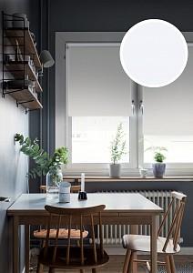 Штора рулонная Blackout Lux 200x175 см., цвет белый