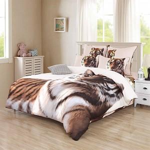 Постельное белье Амурский тигр Евро