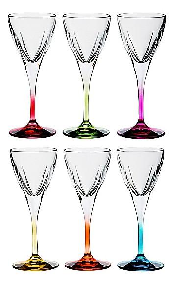 Набор для водки из 6 шт. Фьюжн колорс 305-127