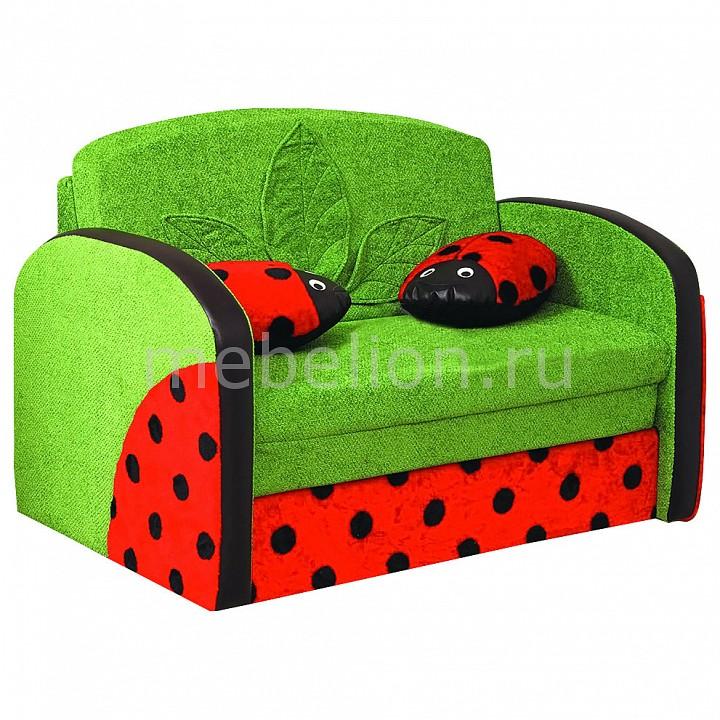 Диван-кровать Мася-9 Божья коровка 8181127 зеленый/красный