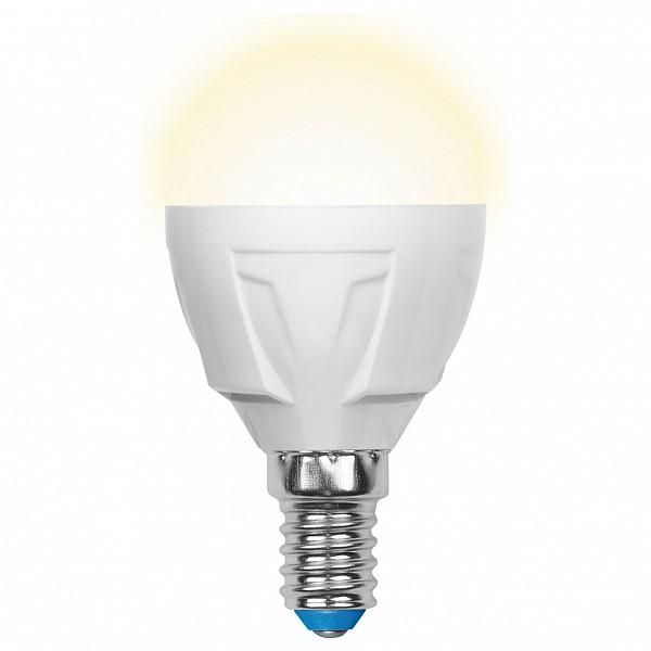 Лампа светодиодная E14 265В 7Вт 3000K LED-G45-7W/WW/E14/FR PLP01WH UL_UL-00000773