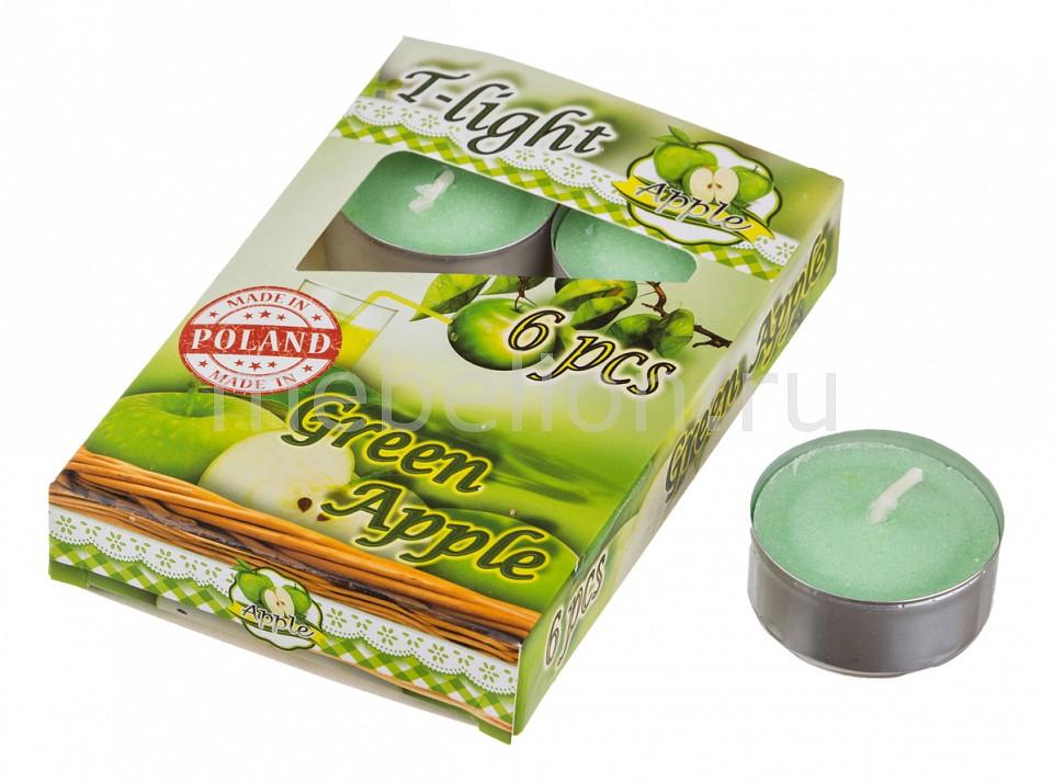 Набор из 6 свечей ароматических АРТИ-М (4x2 см) Зеленое яблоко 348-478 пластиковая бутылка oursson зеленое яблоко 1 л