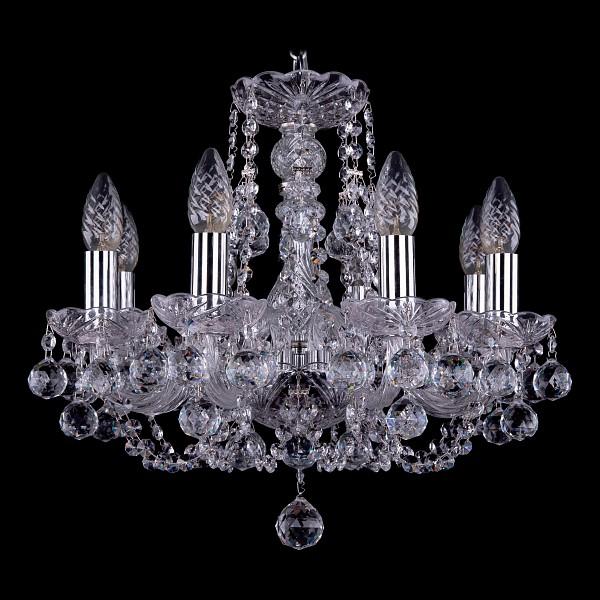 Подвесная люстра 1406/8/141/Ni/Balls Bohemia Ivele Crystal  (BI_1406_8_141_Ni_Balls), Чехия