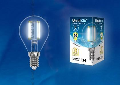 Лампа светодиодная [LED] Uniel E14 6W 4000K
