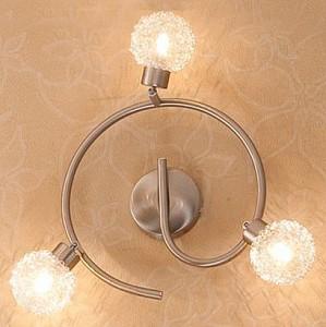 Спот поворотный Юджин, 3 лампы G9 по 40 Вт., 6.67 м², цвет неокрашенный, хром сатин