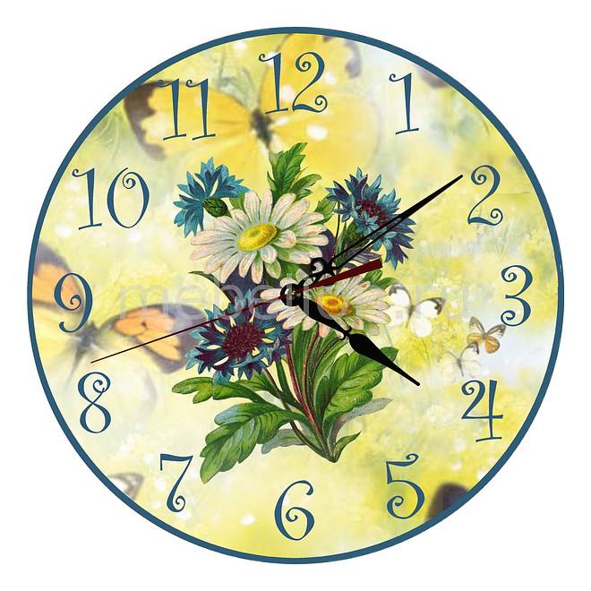 Настенные часы Акита (30 см) Ромашки C13 цена и фото