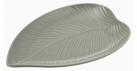 Блюдо декоративное (38x26x3.6 см) In The Forest Leaf 2002.223
