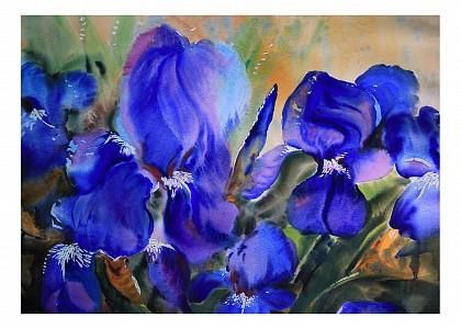 Панно (70х50 см) Цветы 11810014
