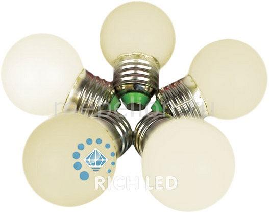 Лампа светодиодная E27 220В 1Вт RL-BL-E27-G45-WW