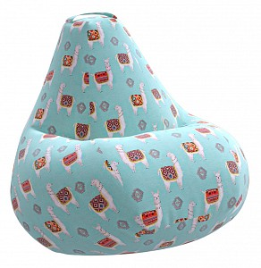 Кресло-мешок Ламы Голубое Жаккард 3XL 150*110 см