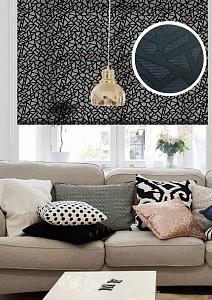 Рулонная штора Heyli 115x160 см., цвет черный