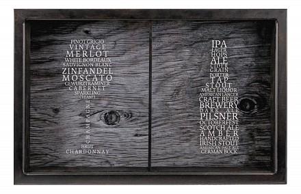 Копилка для винных пробок и пивных крышек (26х22 см) Сорта вин/пива KD-024-161
