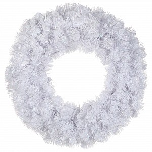 Венки хвойные [60 см] Исландская белоснежный 73851