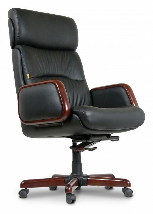 Кресло для руководителя Chairman 417 черный/орех темный, черный