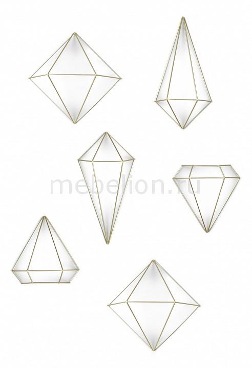 Фигура настенная Umbra Набор фигур настенных (33х19.1 см) Prisma 470520-221 umbra зеркало декоративное prisma