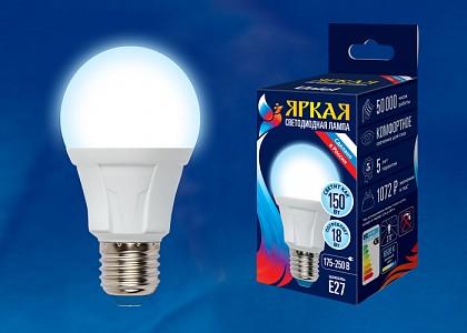 Лампа светодиодная [LED] Uniel E27 18W 6500K