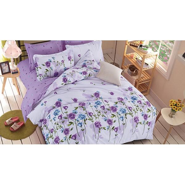 Комплект семейный Pure cotton Сиреневые цветы Cleo CLE_41_147-PC