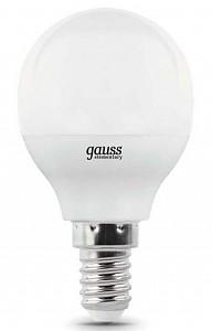 Лампа светодиодная [LED] Gauss E14 7W 4100K