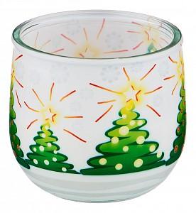 Свеча декоративная (7.5х7 см) Зима 348-664