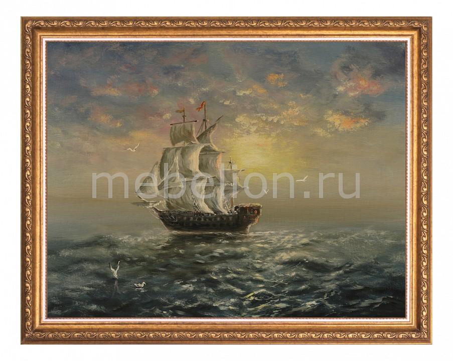 Панно Ekoramka (50х40 см) Корабль 1722120 панно ekoramka 50х40 см ландыши 1727008к5040