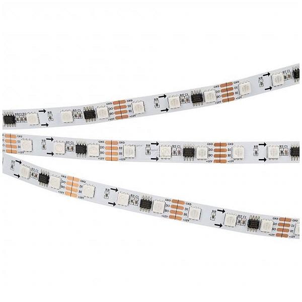 Лента светодиодная [5 м] SPI-5000-RAM-5060-60 12V Cx3 RGB-Auto (10mm, 12W/m, IP20) 028871 ARLT_028871