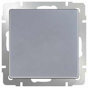 Выключатель одноклавишный без рамки Серебряный WL06-SW-1G