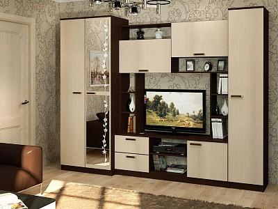 Мебельная стенка среднего размера Флора BTS_T0018097