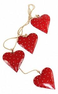 Елочная гирлянда (65x11 см) Red Hearts en_ny0035