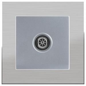ТВ-розетки проходные без рамки Aluminium(Серебряный) WL06-SW-3G+WL06-TV-2W