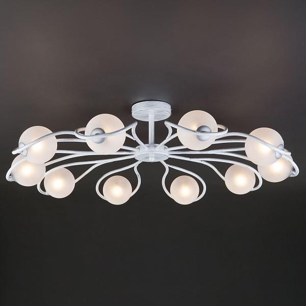 Люстра на штанге Camomile 70089/10 белый с серебром фото