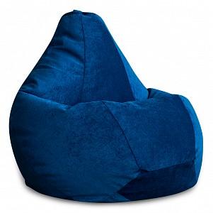 Кресло-мешок Синий Микровельвет L