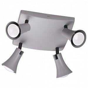 Спот поворотный Reanna, 4 лампы GU10 по 50 Вт., 9.29 м², цвет серый матовый