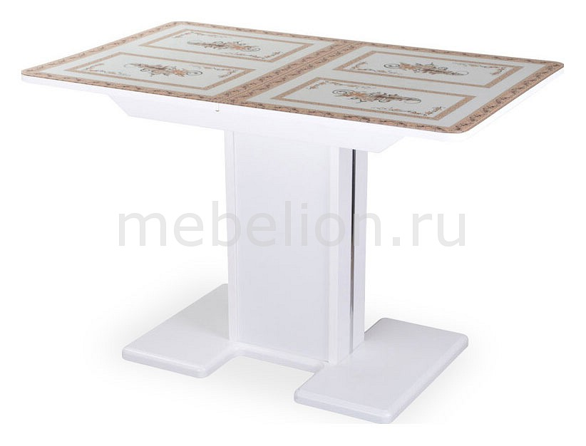 Купить Стол обеденный Танго ПР БЛ ст-72 05 БЛ/БЛ, Домотека